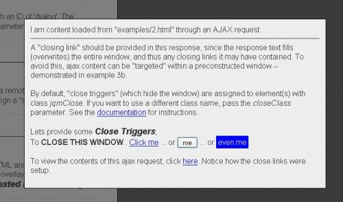 Plugin for jQuery to help you display notices, dialogs, and modal windows in a web browser-jqModal