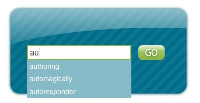 Add styling and autocomplete behavior to your search form field-searchfield