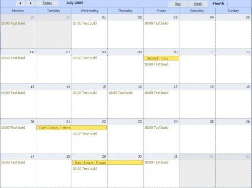 Ajax Events fullscreen Calendar Scheduler-dhtmlxScheduler