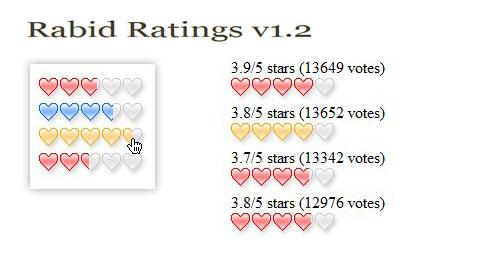 Javascript rating system-Rabid Ratings