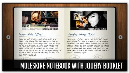 Moleskine Notebook with jQuery Booklet-Moleskine