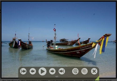 Lightweight JavaScript image viewer with an animated slideshow feature-TripTracker