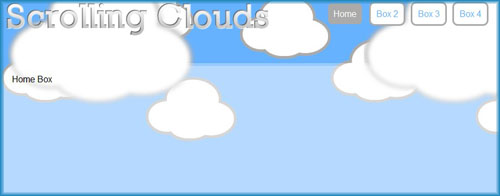 How to create an amazing web site with scrolling clouds effect-ParallaxCloud