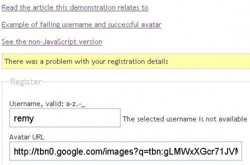 Using Ajax and jquery to Validate Forms-Ajax Form Validation