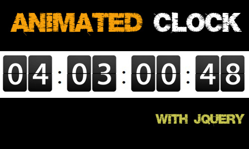 Animated Clock with jQuery-Animated Clock
