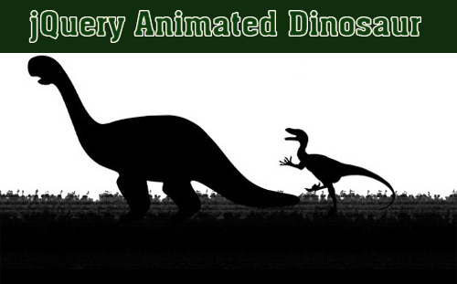 jQuery animation that shows a dinosaur moving on the screen-Raptorize