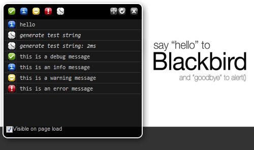 JavaScript Logging Utility Open Source-Blackbird