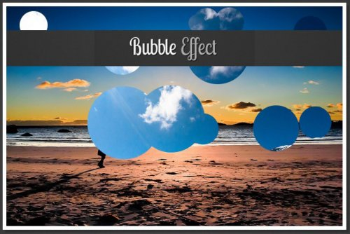 jQuery example that create a Bubble Slideshow Effect-BubbleEffect