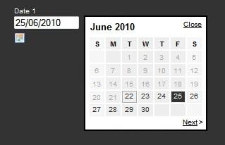 Date picker Javascript plugin-Date picker