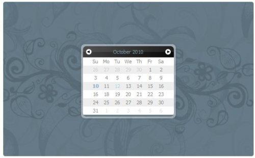 Simple javascript calendar datapicker-Eightysix