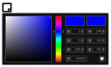 Color picker using jQuery-ColorPicker