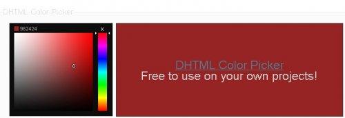 Plugin que permite selccionar un color en un cuadro full HSD-DHTML Color Picker