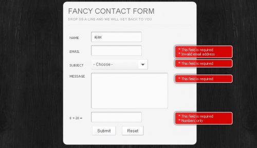 How to create a very nice contact form with ajax-Contact Form