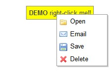 Javascript Context Menu for web pages-ContextMenu