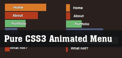 Animated Menu with css3-NiceMenu