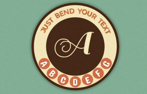 Curved text with CSS3 and jQuery-Arctext.js