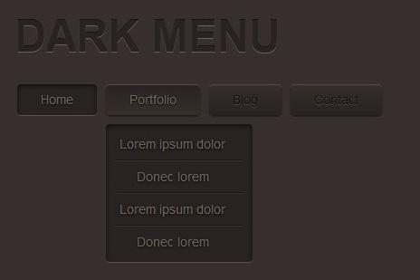 Dark Menu with Css3-darkMenu