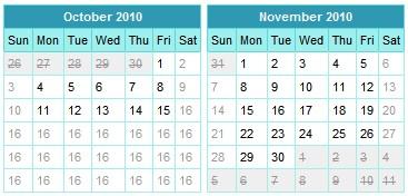 Calendario Javascript-Date picker Calendar
