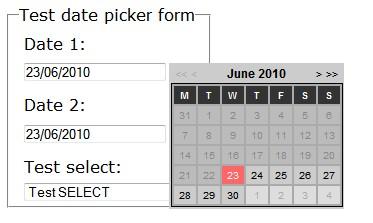 jQuery javascript date picker plugin-Date picker