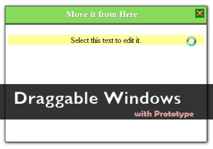 Draggable windows with Prototype and Scriptaculous-DraggableWindows