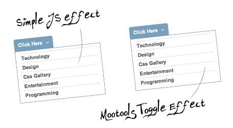 Dos menues verticales con efectos de esconderse y mostrarse-Vertical menu