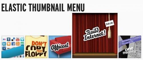 Make An Elastic Thumbnail Menu-Elastic Menu