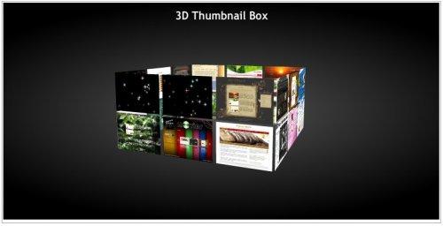 Cubo 3D de fotos miniatura con Flash Grátis-3Dbox