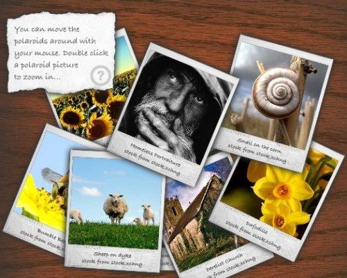 Galería de fotos flash estilo polaroid de código abierto-PolaroidGallery