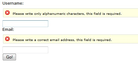 Easy client side web form validations with jquery-Form validations