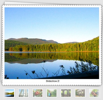 Javascript class for Mootools  to stream and animate the presentation of images on your website-Slideshow 2