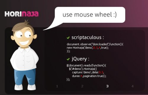 Ready-to-use slide-show implementation, utilizing either scriptaculous/prototype or jQuery-Horinaja