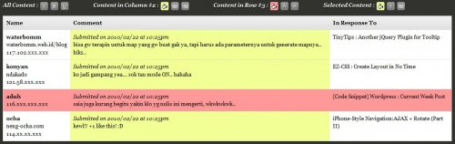 jQuery Grid Plugin, take the control of your html table style-TableView
