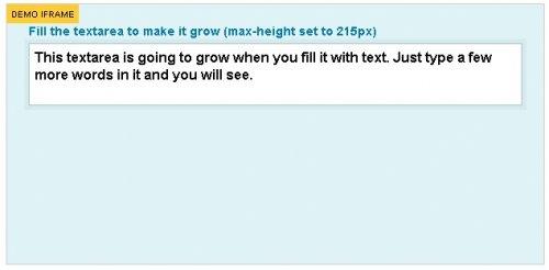 Make your textareas grow Facebook style jQuery plugin-Elastic