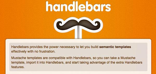 Build semantic templates with javascript-handlebars