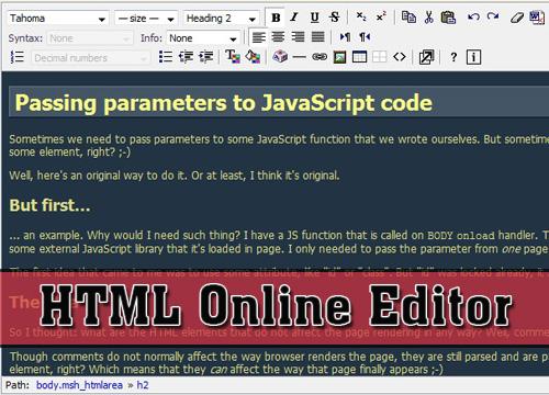 Add a HTML web editor in a website-htmlArea