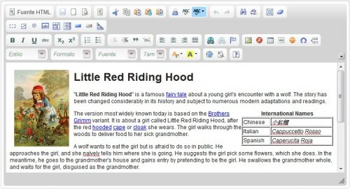 WYSIWYG xHTML editor-CKeditor