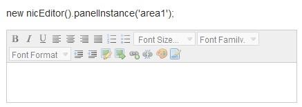 free html WYSIWYG editor for websites-NicEdit