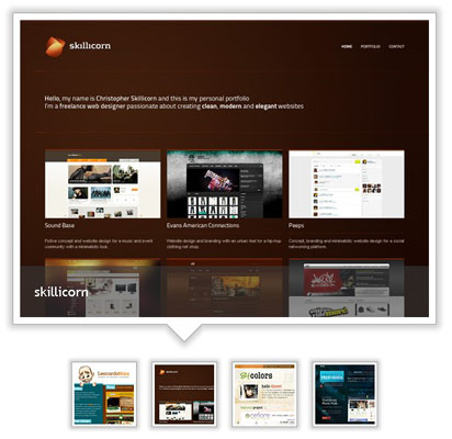 jQuery Slider - Content preview over thumbnails using jQuery-Slide thumbs
