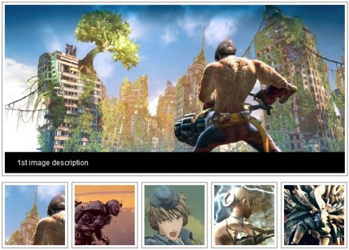 jQuery image gallery in four lines-jQueryGallery