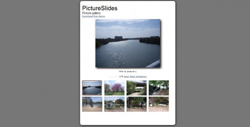 Turn your images into a collection viewable as a slideshow with jQuery-PictureSlides