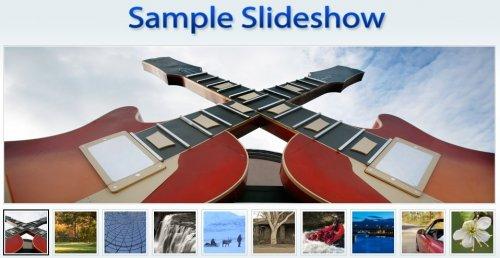 Simple jQuery and mootool slideshow-SlideShow