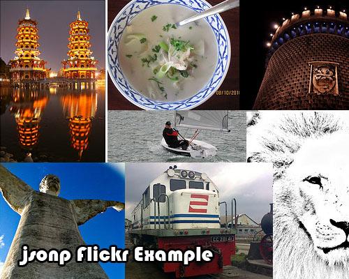 Jsonp flickr Example.-Flickrp