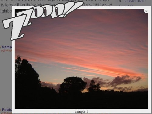 Useful script to display an image on the page.-Lightbox +