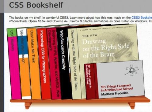 How to create a css3 bookshelf with a little javascript-bookshelf