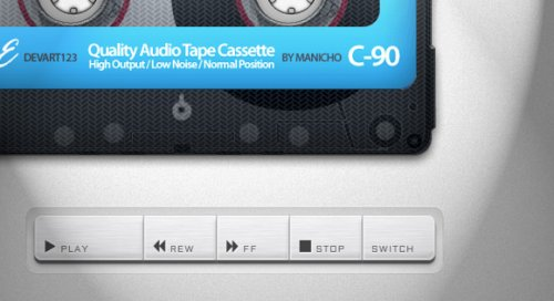 Cassette player with hml5 and css3-cassette