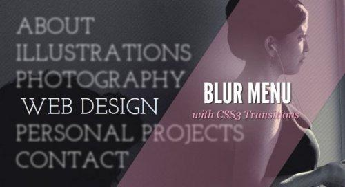 How to create a blur menu with jQuery-BlurMenu