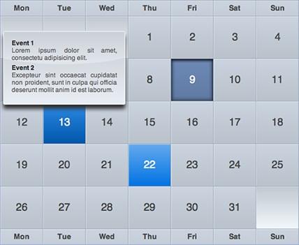 Tutorial jQuery to Create bigs calendars-iCal-like