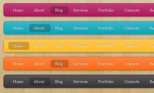 Animated CSS3  and  jQuery menu-LavaLamp Menu