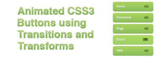 Animated Buttons using CSS3 and jQuery-Css3Transitions