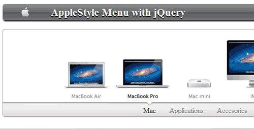 Menú animado parecido al que apple tiene en su sitio web-AppleMenu